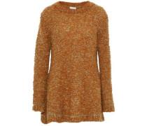 Mélange mohair-blend bouclé sweater