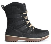 Meadow Leather-trimmed Suede Snow Boots Black