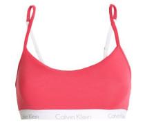 Printed stretch-cotton jersey sports bra