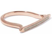 Skinny Stacking 18-karat rose gold vermeil diamond ring