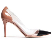 Two-tone Patent-leather And Perspex Pumps Black