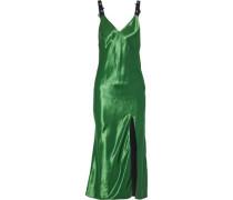 Embellished Satin Midi Slip Dress Green Size 0