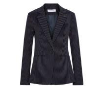Pinstriped Cotton-blend Twill Blazer Midnight Blue Size 0