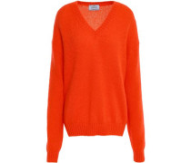 Mohair-blend Sweater Bright Orange