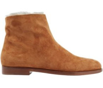 Shearling Ankle Boots Camel
