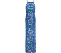 Floral-print jersey maxi dress