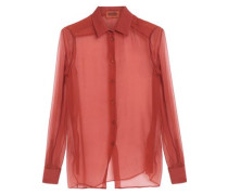 Silk-georgette shirt