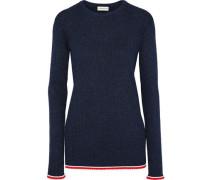 Annapi Ribbed-knit Sweater Navy