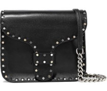 Studded Leather Shoulder Bag Black Size --
