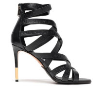 4a67f6ba6c32c1 Leather Sandals Black. Balmain