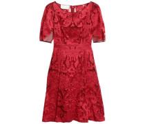 Fil Coupé Organza Dress Red