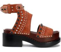 Nashville studded suede platform sandals