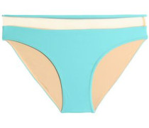 Mesh-trimmed low-rise bikini briefs