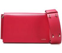 Woman Leather Shoulder Bag Fuchsia