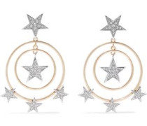 Silver And Gold-tone Crystal Earrings Gold Size --
