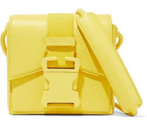 Mini Buckled Textured-leather Shoulder Bag Yellow Size --