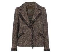 Frayed Tweed Jacket Black