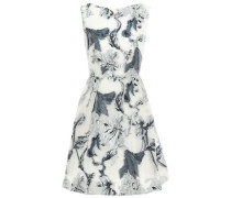 Gathered Metallic Fil Coupé Organza Mini Dress Off-white