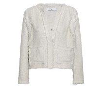 Frayed cotton-blend bouclé-tweed jacket