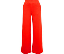 French Terry Wide-leg Pants Tomato Red