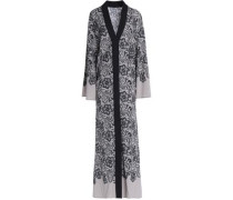 Floral-print stretch-silk crepe de chine maxi dress