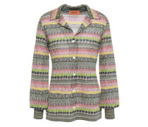 Metallic Crochet-knit Top Multicolor