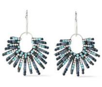 Kravis Convertible Oxidized Silver-tone Crystal Earrings Sky Blue Size --