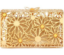Pandora In Bloom Crystal-embellished Gold-tone Box Clutch Gold Size --