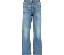 Marilyn high-rise cropped flared jeans