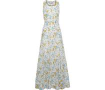 Floral-print Cotton And Silk-blend Poplin Maxi Dress Ivory