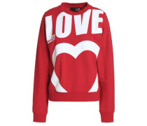 Printed French cotton-blend terry sweatshirt