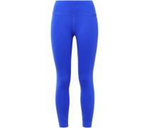 Cropped Stretch Leggings Cobalt Blue