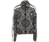 Printed Shell Jacket Black  8