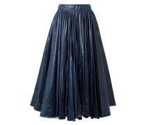 Pleated Coated-shell Midi Skirt Storm Blue
