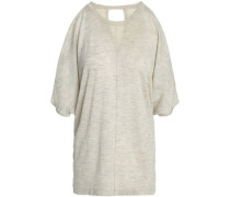 Cutout Knitted Top Neutral