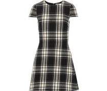 Malin Checked Cotton-blend Mini Dress Black Size 0