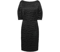 Woman Poise Cotton-blend Satin-jacquard Dress Black