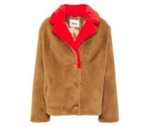 Woman Mariska Two-tone Faux Fur Jacket Camel