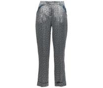 Jacquard Tapered Pants Gray