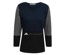 Color-block Stretch Top Midnight Blue