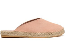 Hamptons Suede Espadrille Slippers Blush