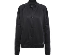 Mesh-paneled Jersey Jacket Black