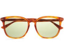 D-frame Tortoiseshell Acetate Sunglasses Camel Size --