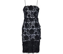 Floral-appliquéd guipure lace dress