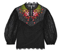 Leo embroidered lace top