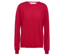 Woman Wool And Silk-blend Sweater Crimson