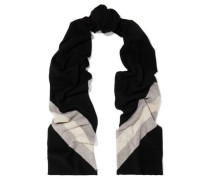 Gunther Striped Wool And Cashmere-blend Scarf Black Size --