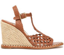 Woven leather espadrille sandals
