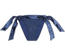 Satin-trimmed low-rise bikini briefs