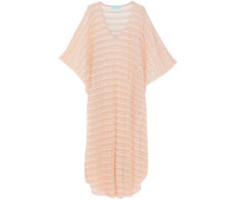 June metallic crochet-knit kaftan